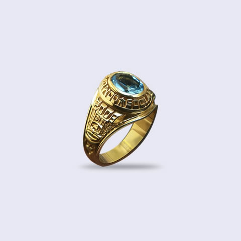 Anillo de grado Antique 6x8 Oval